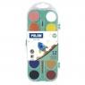 Farby akwarelowe Milan, 12 matowych kolorów + pędzel (053312P)