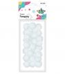 Pompony 25mm, białe (352962)