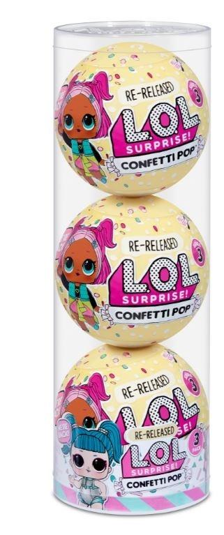 L.O.L. Surprise Figurki 3-pak confetti, Glamstronaut (571957E7C/571964)