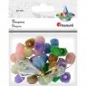 Pompony korale, 30 szt. - mix kolorów (412936)