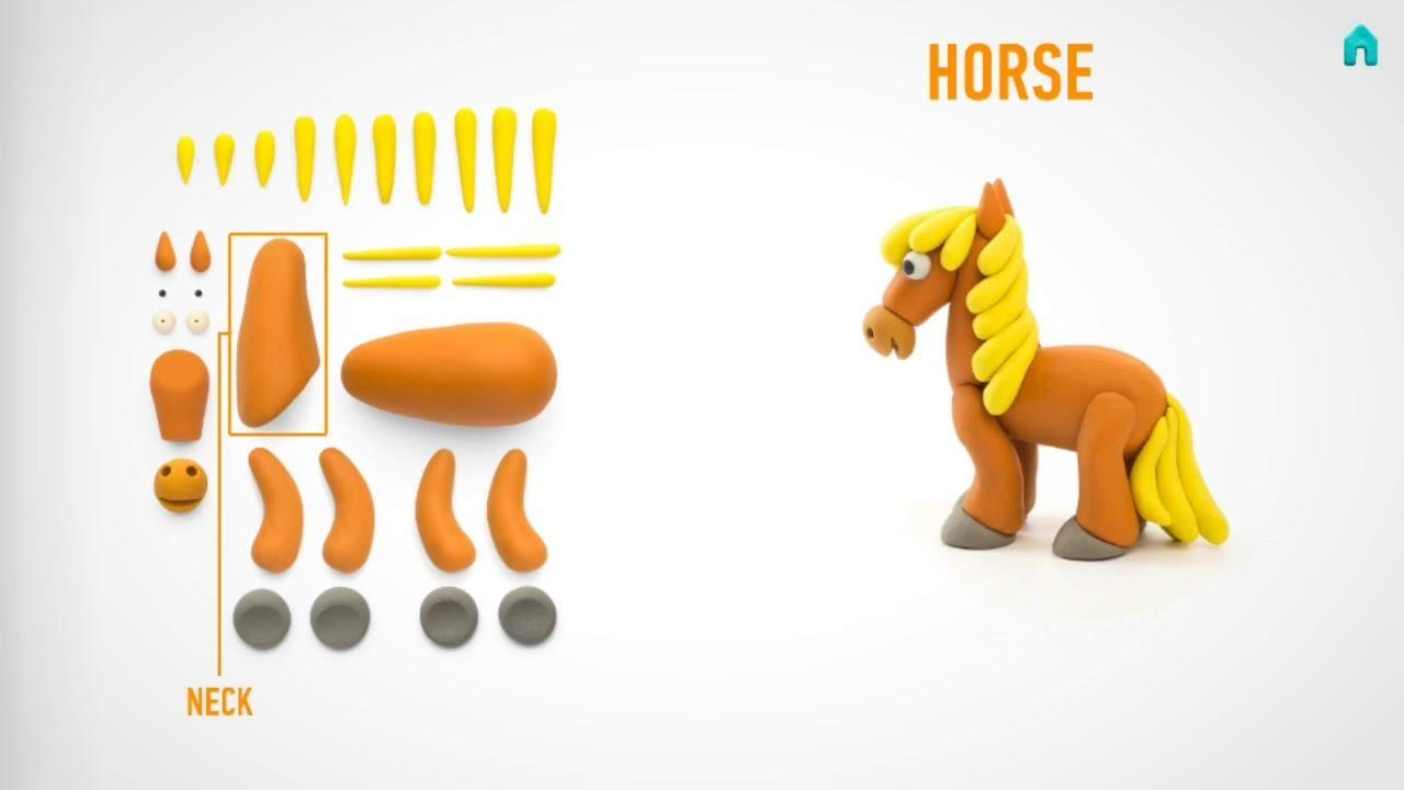 Hey Clay: masa plastyczna - Koń (HCLMN002PCS)