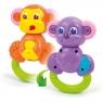 Grzechotka 2w1 małpka-miś (14996)