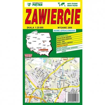 Plan miasta Zawiercie Wydawnictwo Piętka