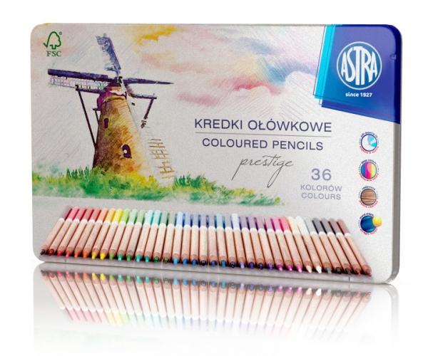 Kredki ołówkowe Prestige 36 kolorów w kasetce