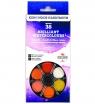 Farby akwarelowe Brilliant 36 kolory okrągłe