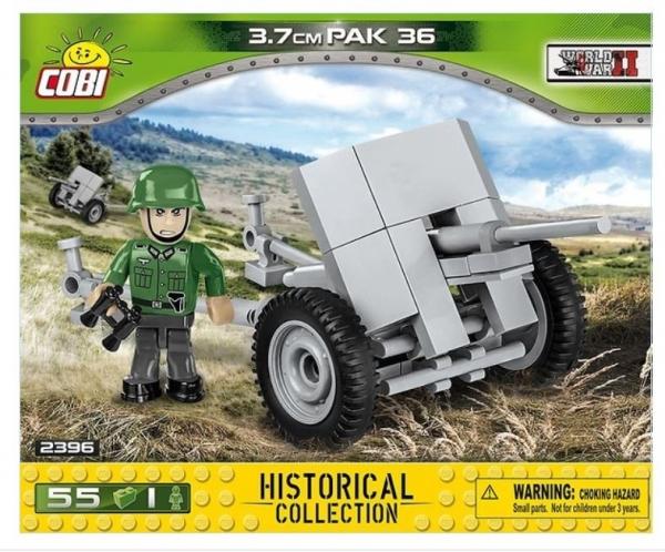 Cobi: Mała Armia. 3,7cm Pak 36 - niemiecka armata przeciwpancerna (2396) (Zgnieciony kartonik)