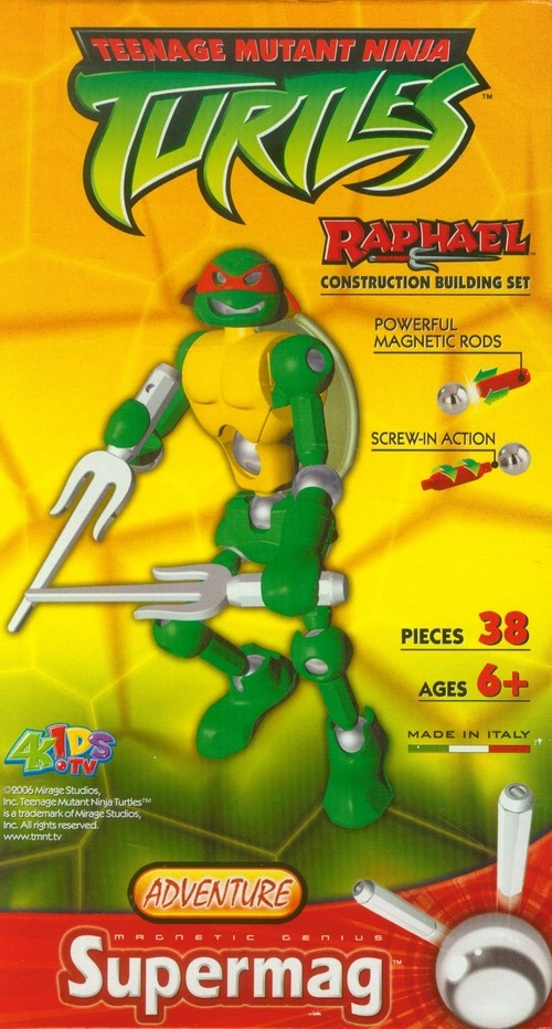 Klocki magnetyczne Turtles