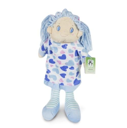 Plecak Lalka Agata 38 cm niebieski