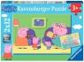 Ravensburger, Puzzle 2x12: Peppa w domu (075966)