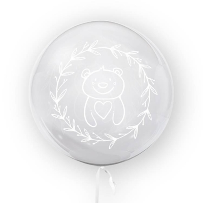 Tuban, balon 45 cm - Miś, biały (TB 3696)