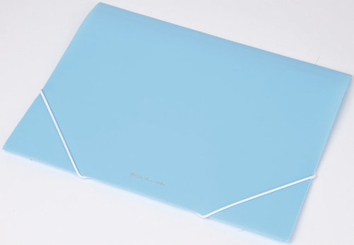 Teczka na gumkę A4 transparentna Focus ex4302 niebieska