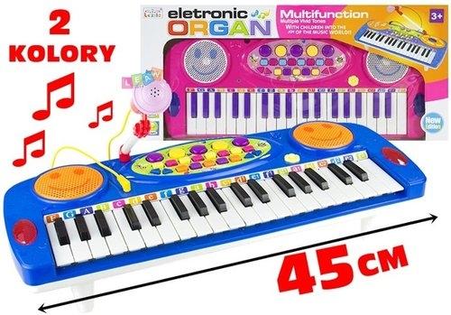 Organy keyboard z mikrofonem na nóżkach