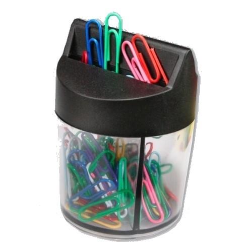 Spinacze 28mm kolorowe pudełko magnetyczne 100 sztuk