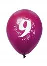 Balony pastelowe numer 9 (mix) (K7967)