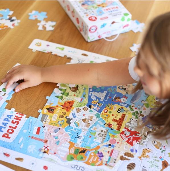 CzuCzu. Puzzle obserwacyjne - Mapa Polski