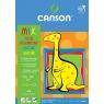 Blok rysunkowy Canson A4/15k - kolorowy/biały