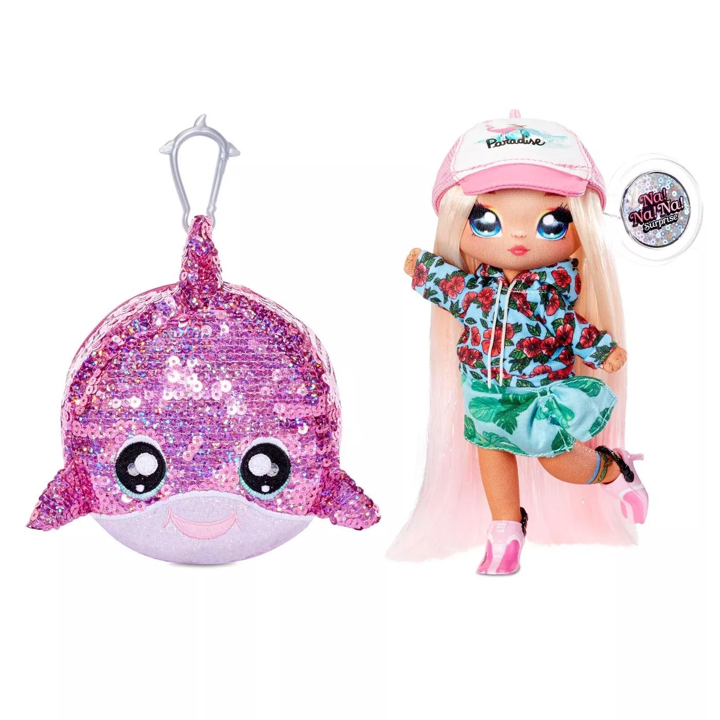 Na! Na! Na! Surprise 2w1: Krysta Splash i cekinowa torebka delfin (572367EUC/573968)