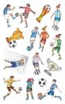Naklejki foliowe metaliczne - piłkarze