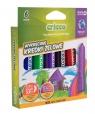 Kredki żelowo - pastelowe 3w1 6 kolorów (CR350K6)