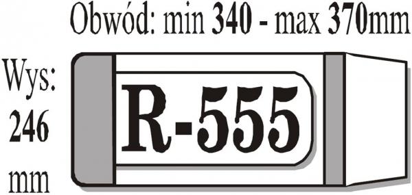 Okładka książkowa regulowana R555 (50 szt) IKS