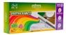 Farby plakatowe Cricco 6 kolorów + brokat (CR366K7)