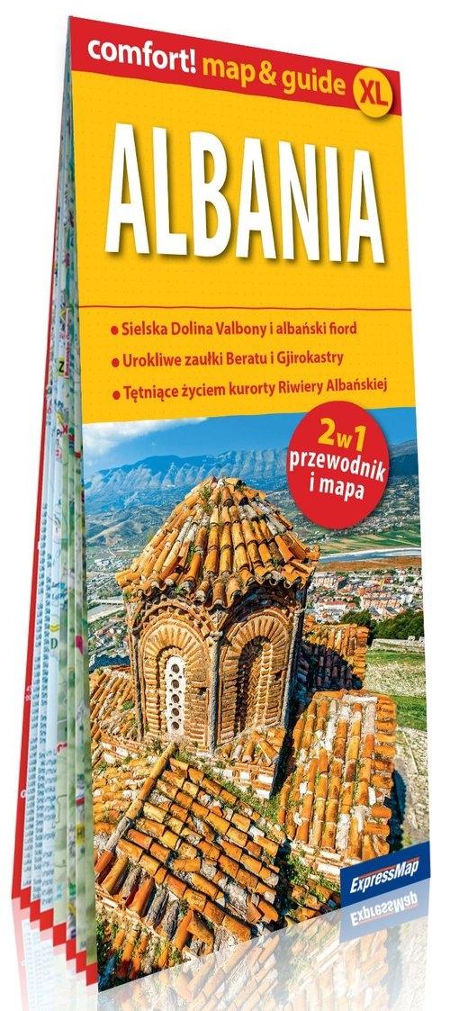 Albania laminowany map&guide (2w1: przewodnik i mapa) Nowek Izabela