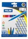 Flamastry Milan trójkątne 6112 - 12 kolorów (06121212)
