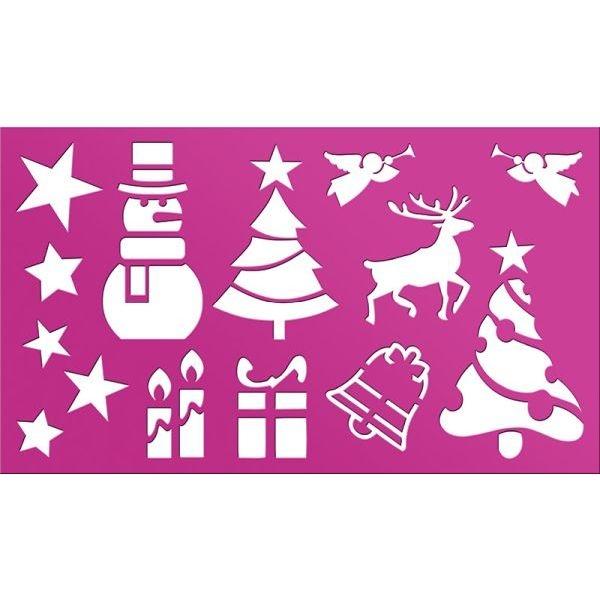 Szablon plastikowy Christmas (415659)