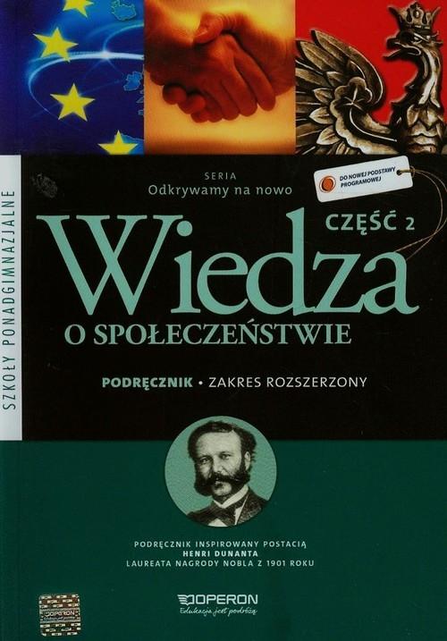 Odkrywamy na nowo Wiedza o społeczeństwie 2 Podręcznik Zakres rozszerzony Smutek Zbigniew, Maleska Jan, Surmacz Beata