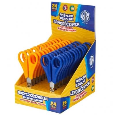 Nożyczki szkolne dla leworęcznych Astra, display 24 szt. (407118004)
