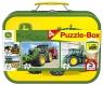 Puzzle 2x60 + 2x100 w walizce John Deere (106700)