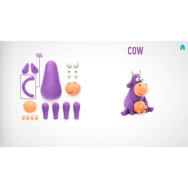 Hey Clay: masa plastyczna - Krowa (HCLMN003PCS)