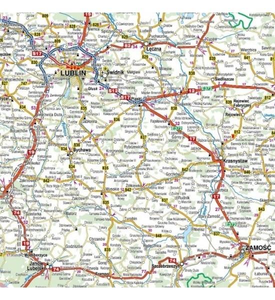 Polska, 1:650 000 - mapa samochodowa (1561-2020) praca zbiorowa