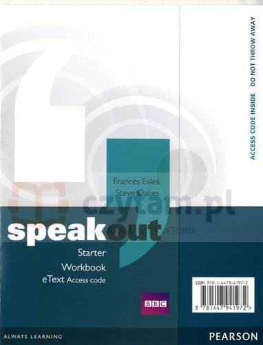Speakout Starter WB eText AccessCard Frances Eales, Steve Oakes