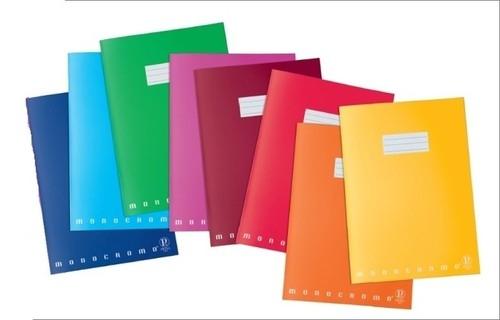 Zeszyt A4 Pigna Monocromo w linie 42 kartki mix kolorów
