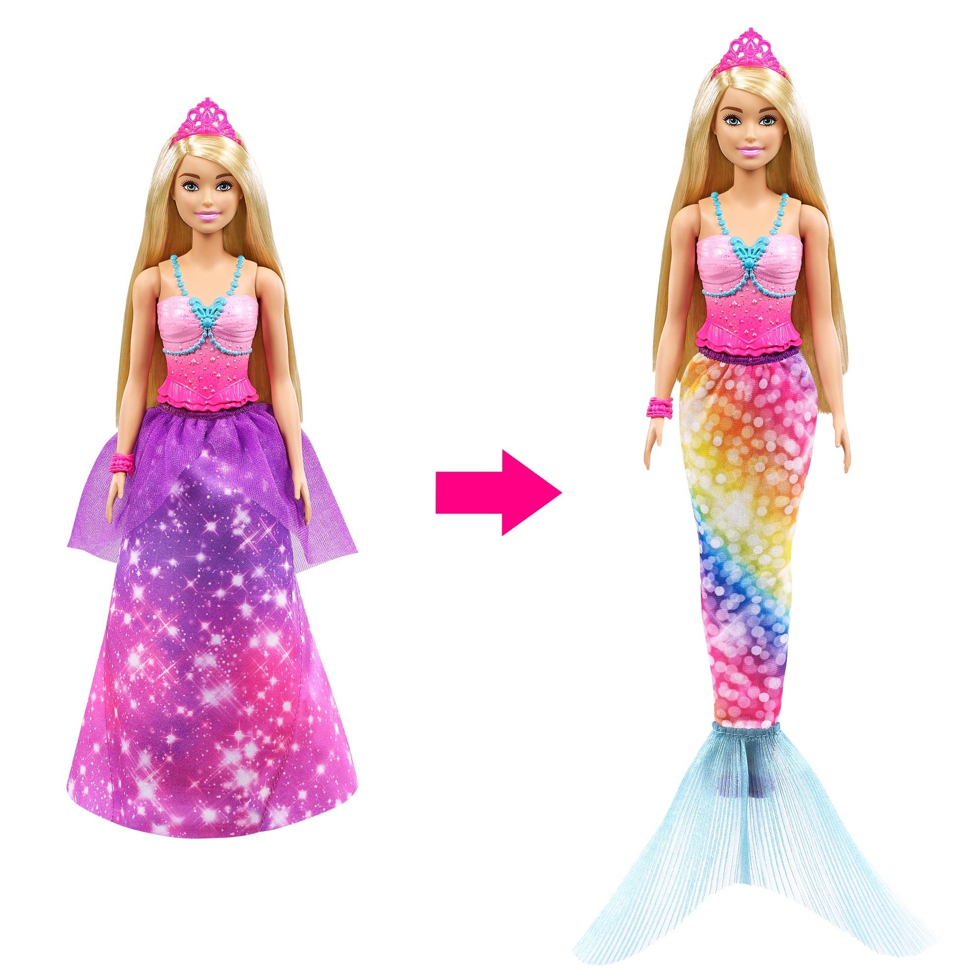 Barbie Dreamtopia: Syrenia przemiana - lalka Barbie (GTF91/GTF92)