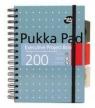 Kołozeszyt Pukka Pad # A5/200k Executive Project Book Metallic niebieski