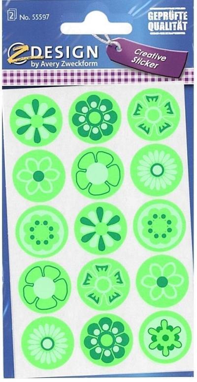 Naklejki neonowe - kwiaty (55597)