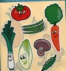 Naklejki Jumbo Owoce i warzywa