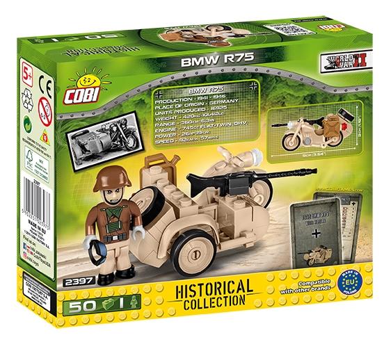 Cobi: Mała Armia. BMW R75 Sahara - motocykl z bocznym wózkiem (2397)