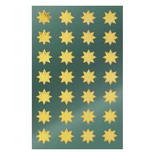 Naklejki bożonarodzeniowe - złote gwiazdy (52803)