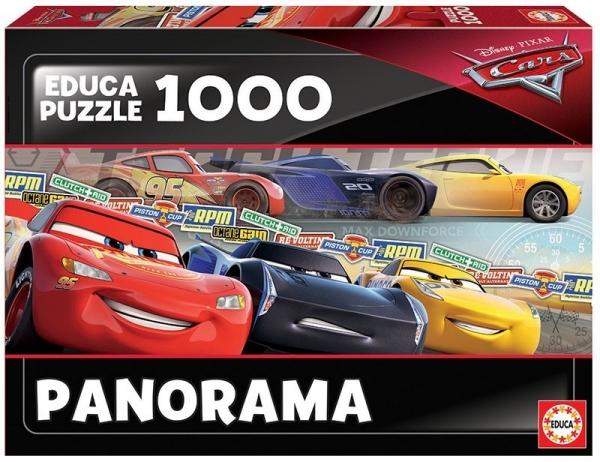 Puzzle 1000 elementów Auta Panorama (17997)