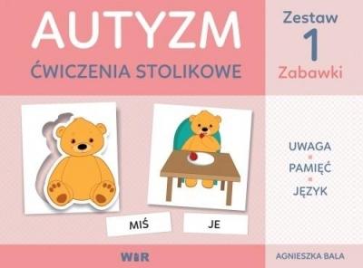Autyzm - ćwiczenia stolikowe Zestaw1 zabawki Agnieszka Bala