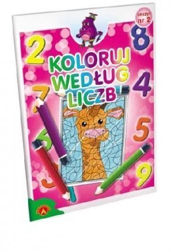 Koloruj według liczb zeszyt 2