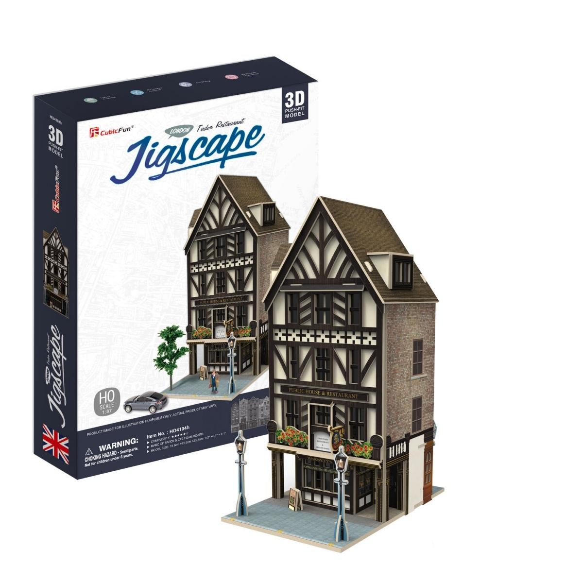 Puzzle 3D: Wielka Brytania, Tudor Restaurant - Jigscape (306-24104)