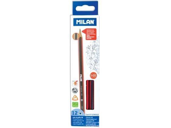 Ołówki MILAN trójkątne HB, pud. 12 szt. (071230312)