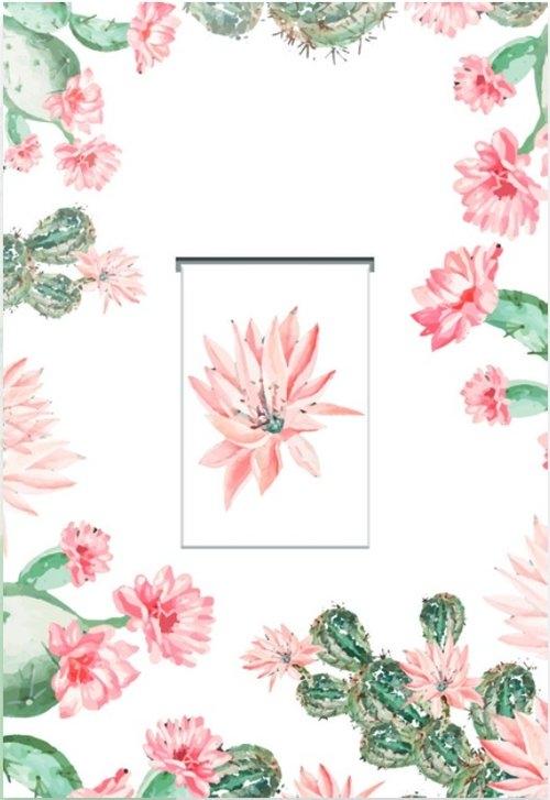Karnet z zakładką magnetyczną 12x18 cm + koperta Kaktus
