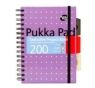 Kołozeszyt Pukka Pad # A5/200k Executive Project Book Metallic różowy