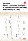 Poetyka i pragmatyka pieśni waka w dworskiej komunikacji literackiej okresu Sonoyama Senri