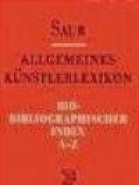 Allgemeines Kunst. Bio-Biblio v 7 Index Nach Berufen